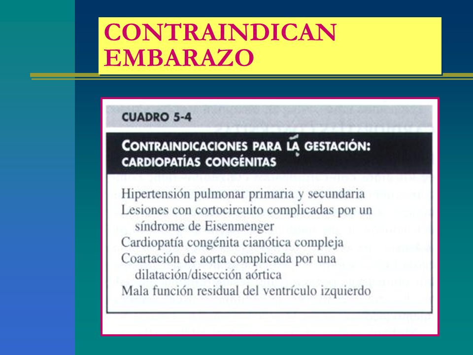 CONTRAINDICAN EMBARAZO