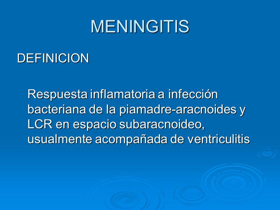 MENINGITIS DEFINICION