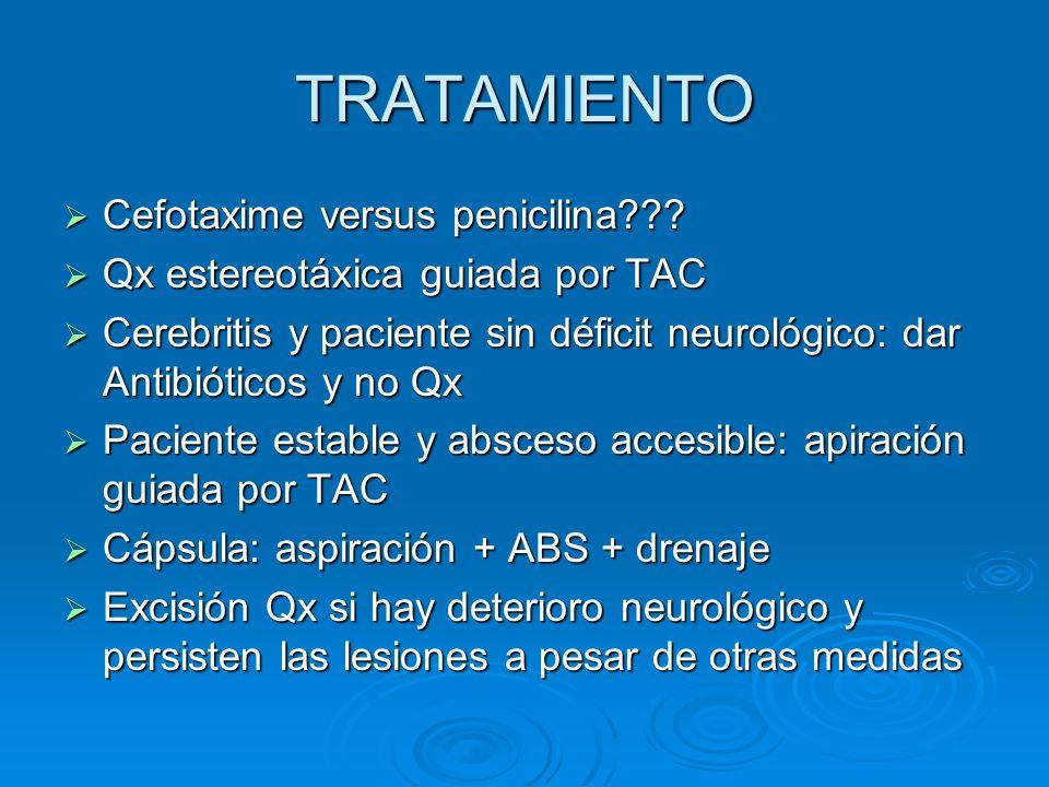 TRATAMIENTO Cefotaxime versus penicilina