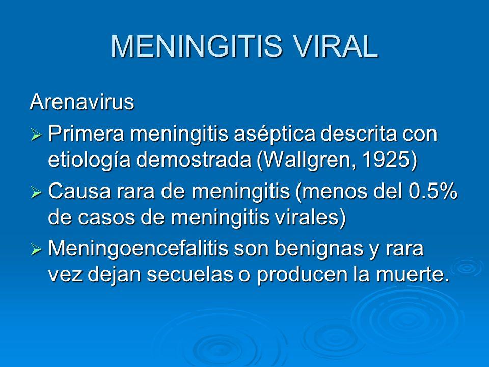 MENINGITIS VIRAL Arenavirus