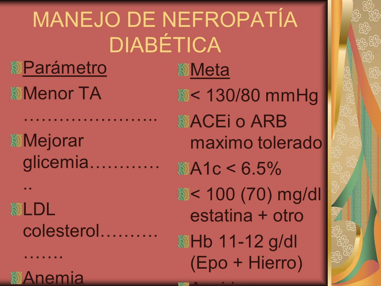 MANEJO DE NEFROPATÍA DIABÉTICA