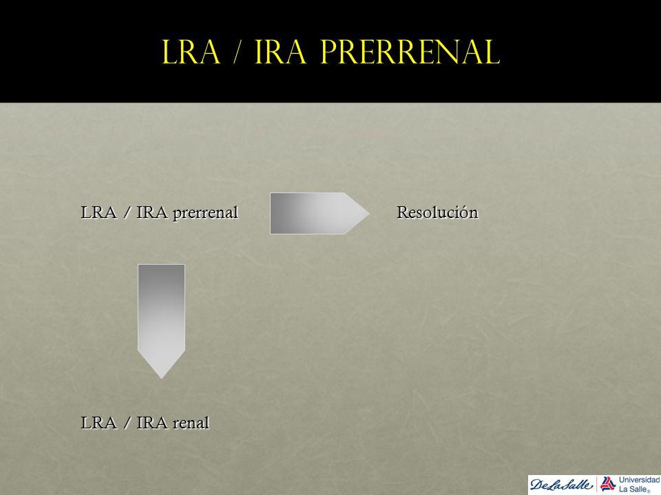 LRA / IRA prerrenal LRA / IRA prerrenal Resolución.