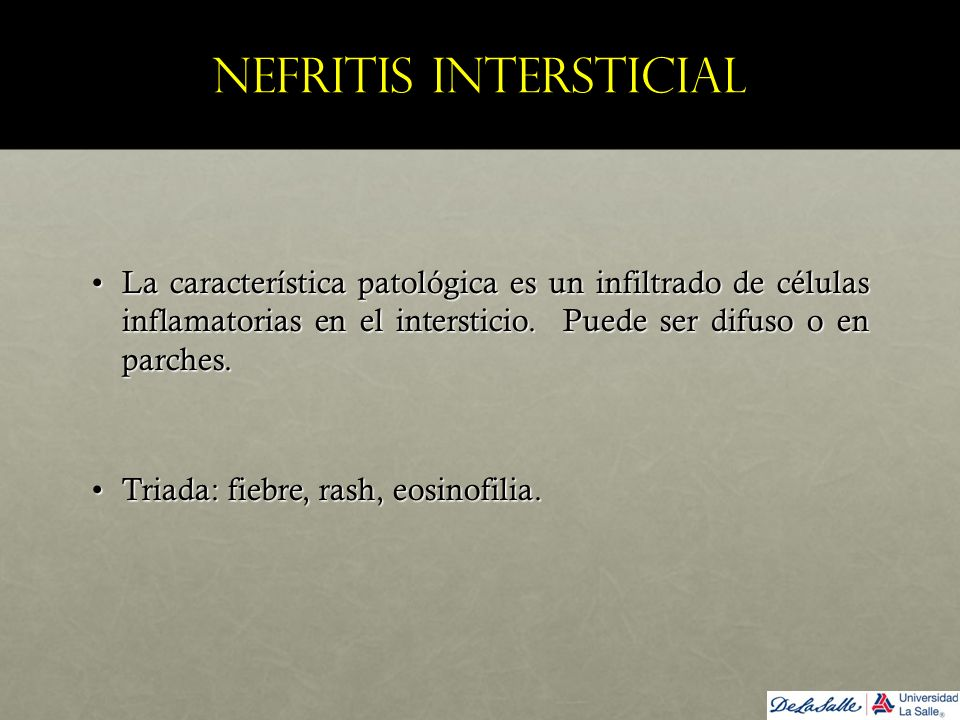 Nefritis intersticial