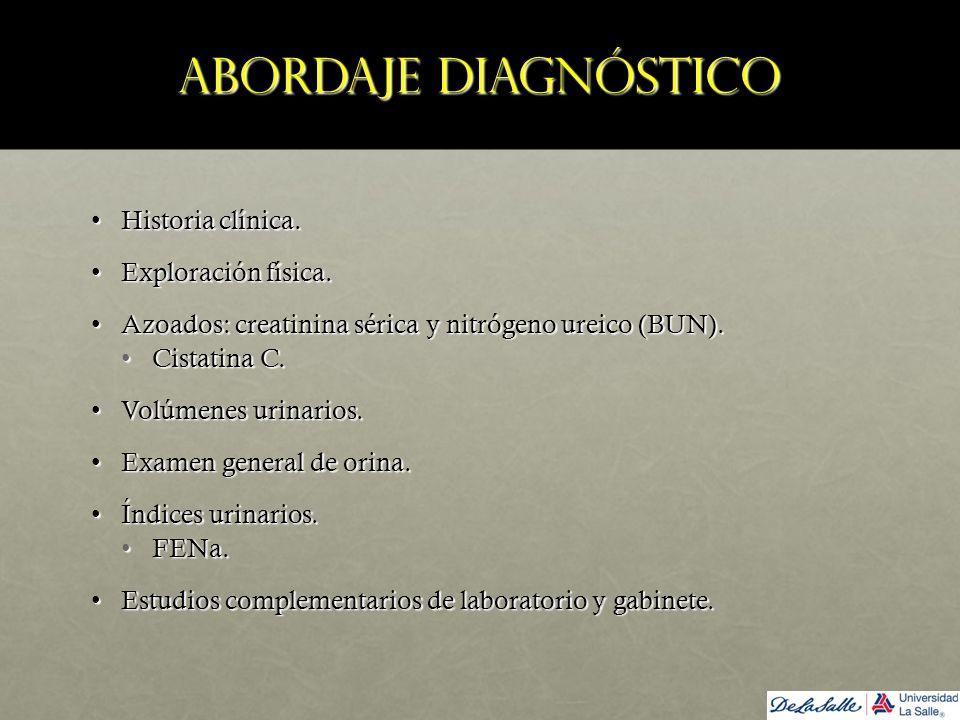 Abordaje diagnóstico Historia clínica. Exploración física.