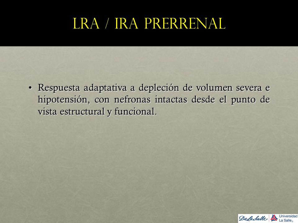 LRA / IRA prerrenal