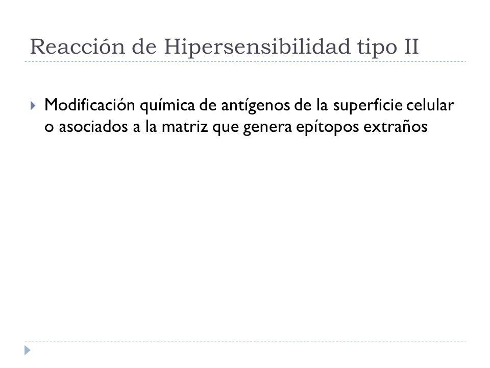 Reacción de Hipersensibilidad tipo II