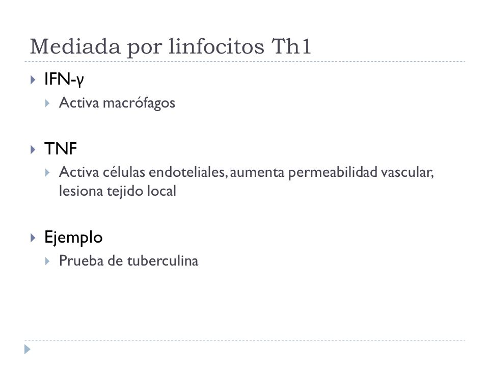 Mediada por linfocitos Th1