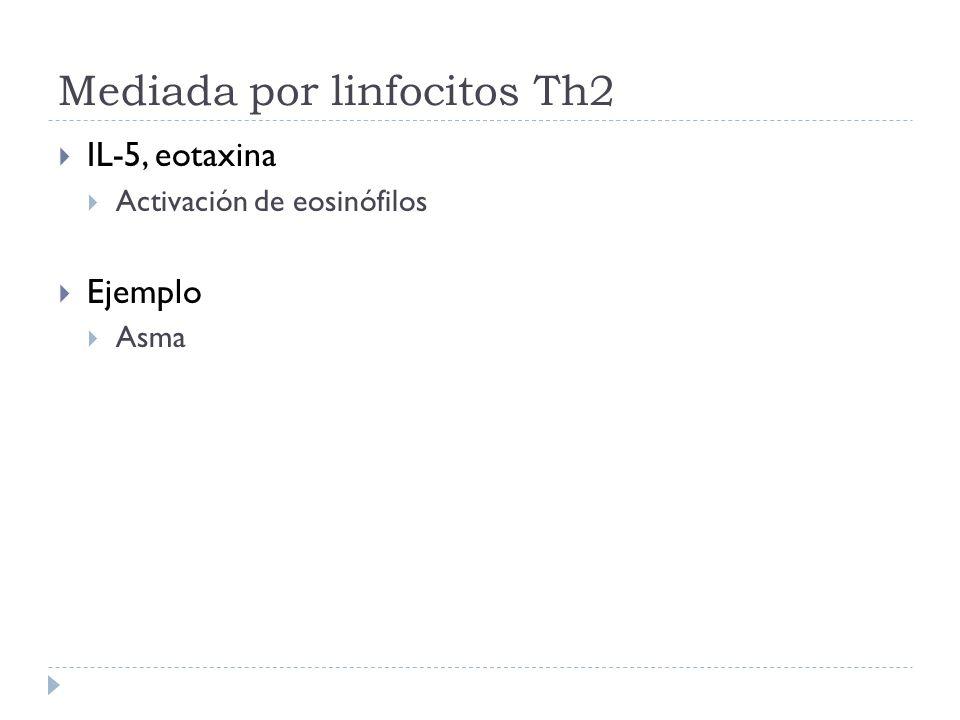 Mediada por linfocitos Th2