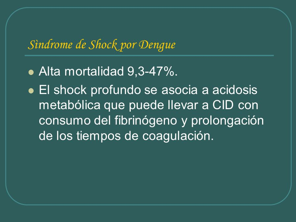 Sìndrome de Shock por Dengue