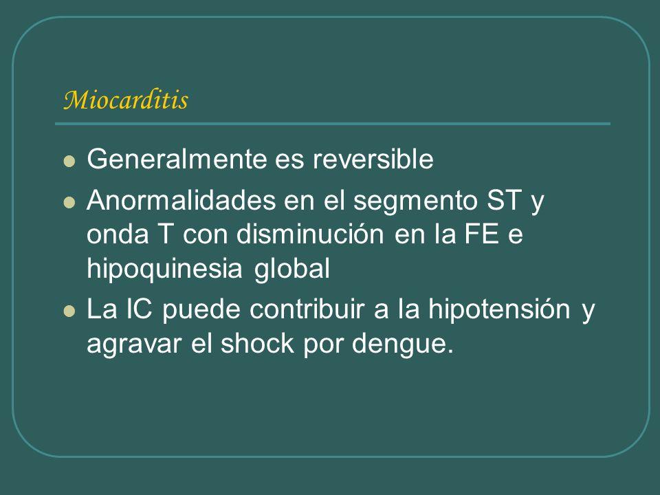 Miocarditis Generalmente es reversible
