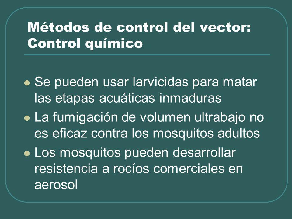 Métodos de control del vector: Control químico