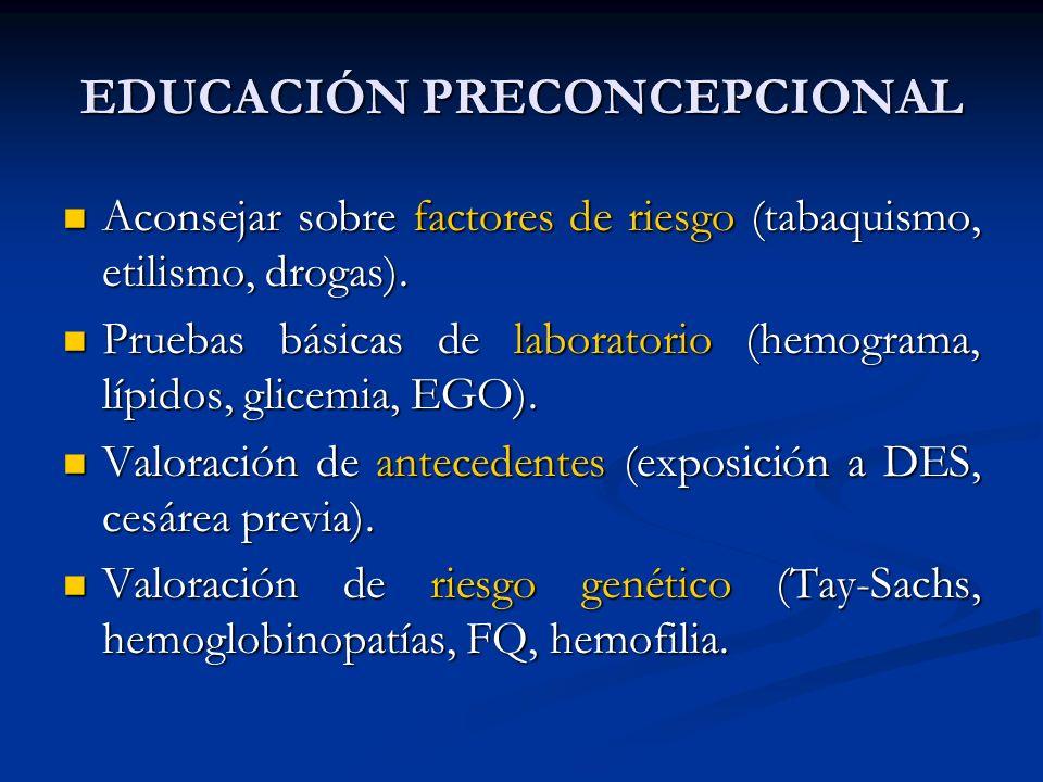 EDUCACIÓN PRECONCEPCIONAL