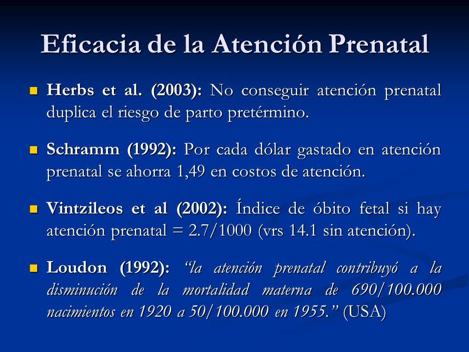 Eficacia de la Atención Prenatal