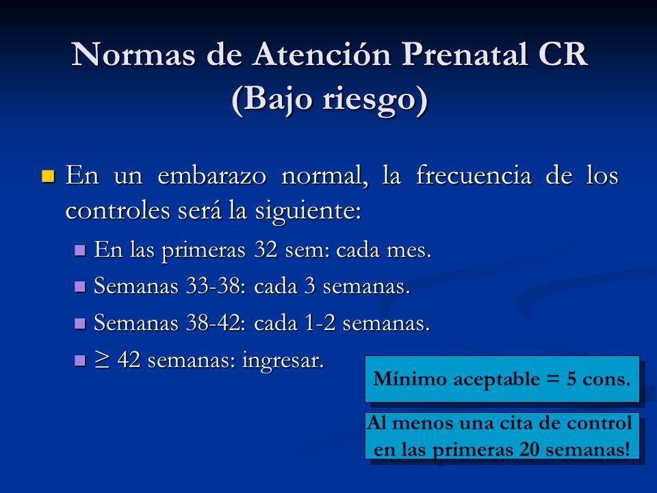 Normas de Atención Prenatal CR (Bajo riesgo)
