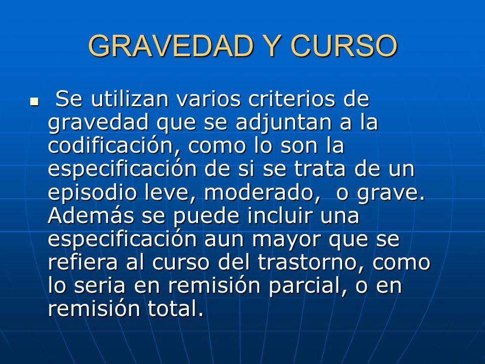 GRAVEDAD Y CURSO