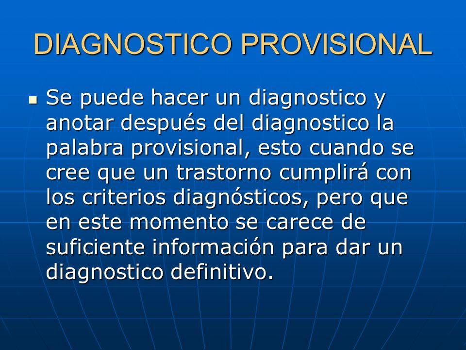 DIAGNOSTICO PROVISIONAL