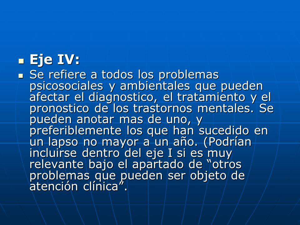 Eje IV: