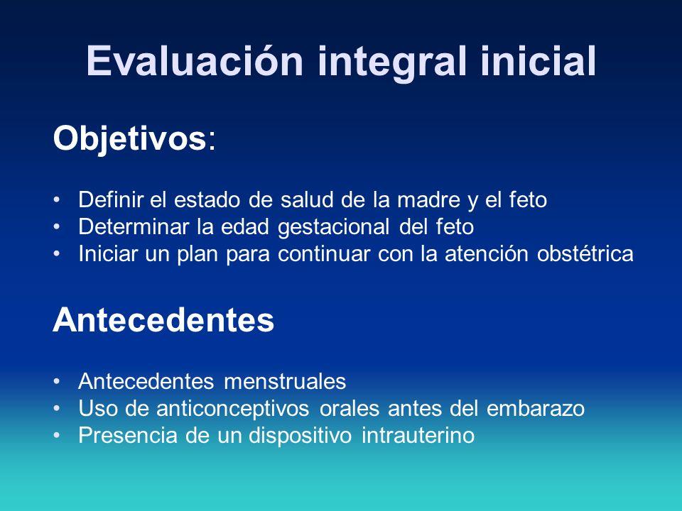 Evaluación integral inicial