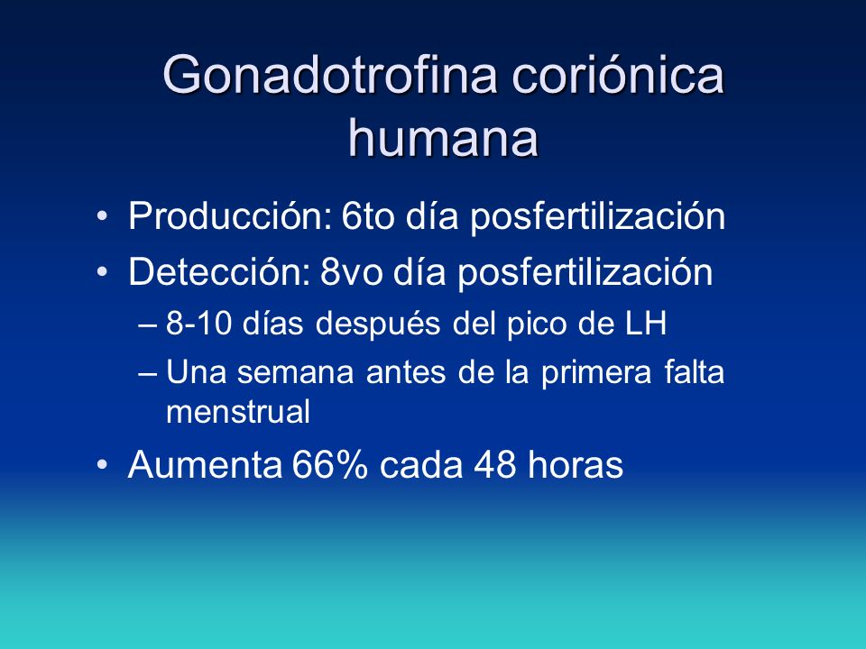 Gonadotrofina coriónica humana