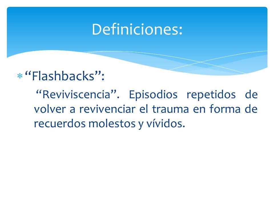 Definiciones: Flashbacks :