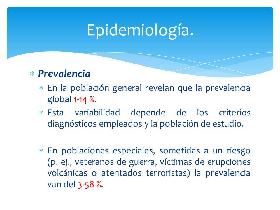 Epidemiología. Prevalencia