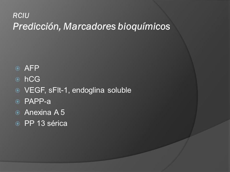 RCIU Predicción, Marcadores bioquímicos