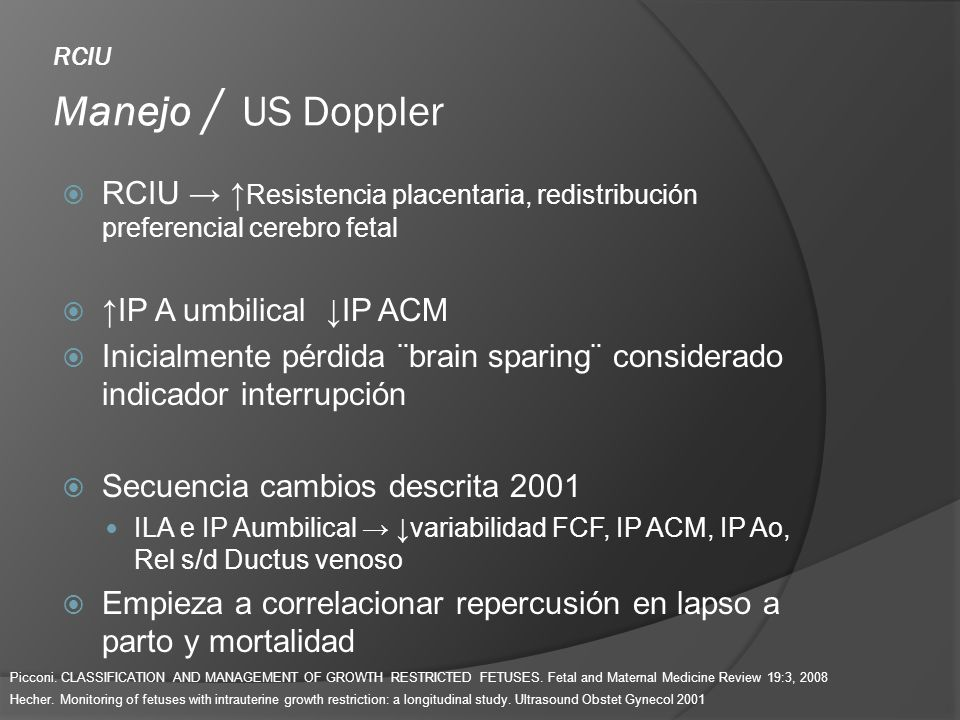 RCIU Manejo / US Doppler