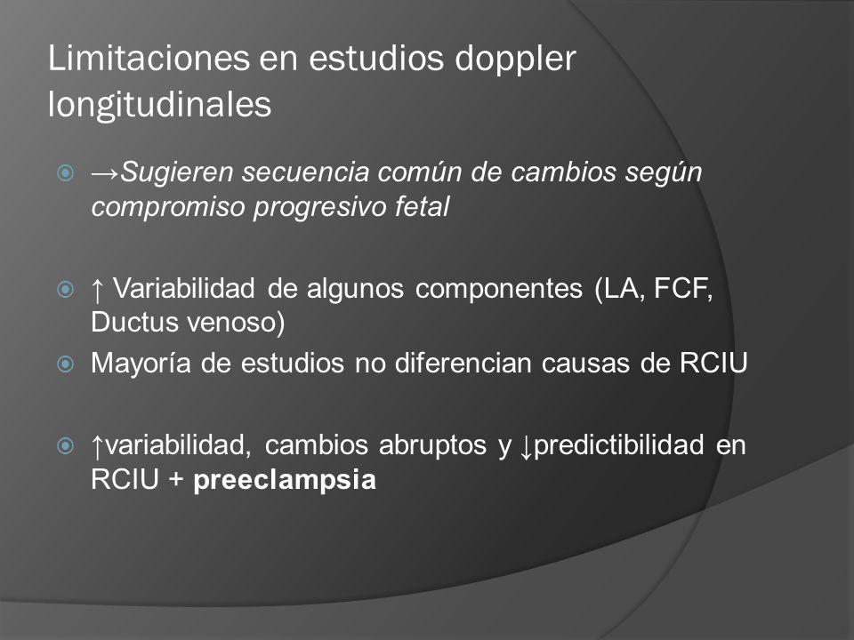 Limitaciones en estudios doppler longitudinales