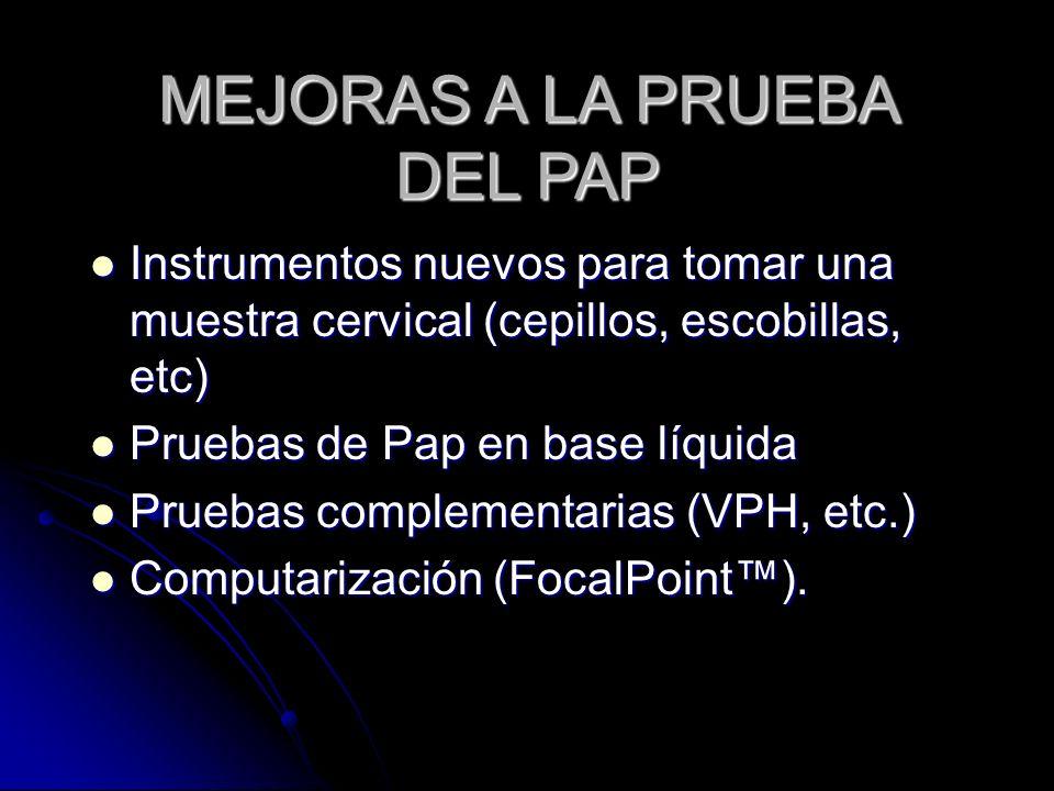 MEJORAS A LA PRUEBA DEL PAP