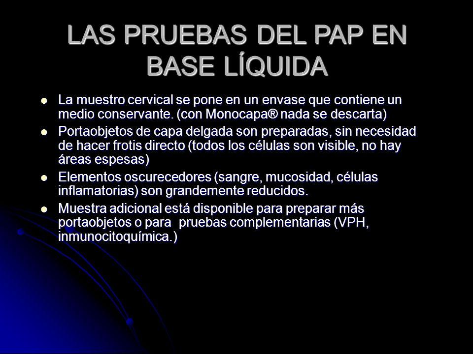 LAS PRUEBAS DEL PAP EN BASE LÍQUIDA