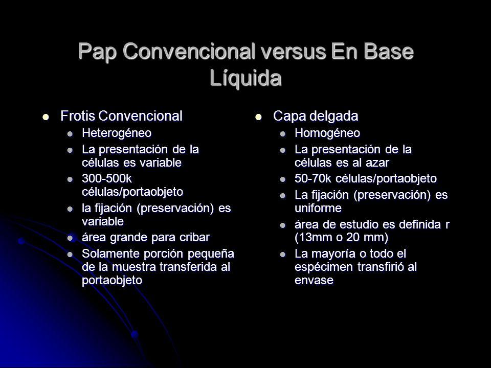 Pap Convencional versus En Base Líquida