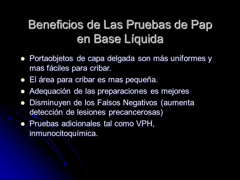 Beneficios de Las Pruebas de Pap en Base Líquida