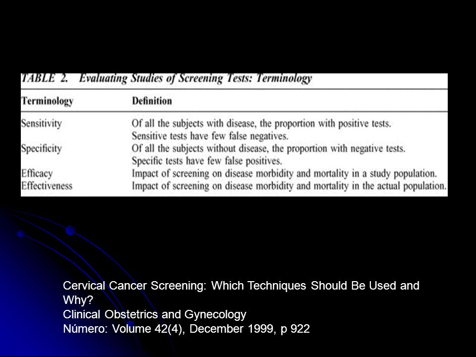 Cervical Cancer Screening: Which Techniques Should Be Used and Why