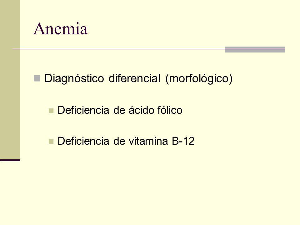 Anemia Diagnóstico diferencial (morfológico)