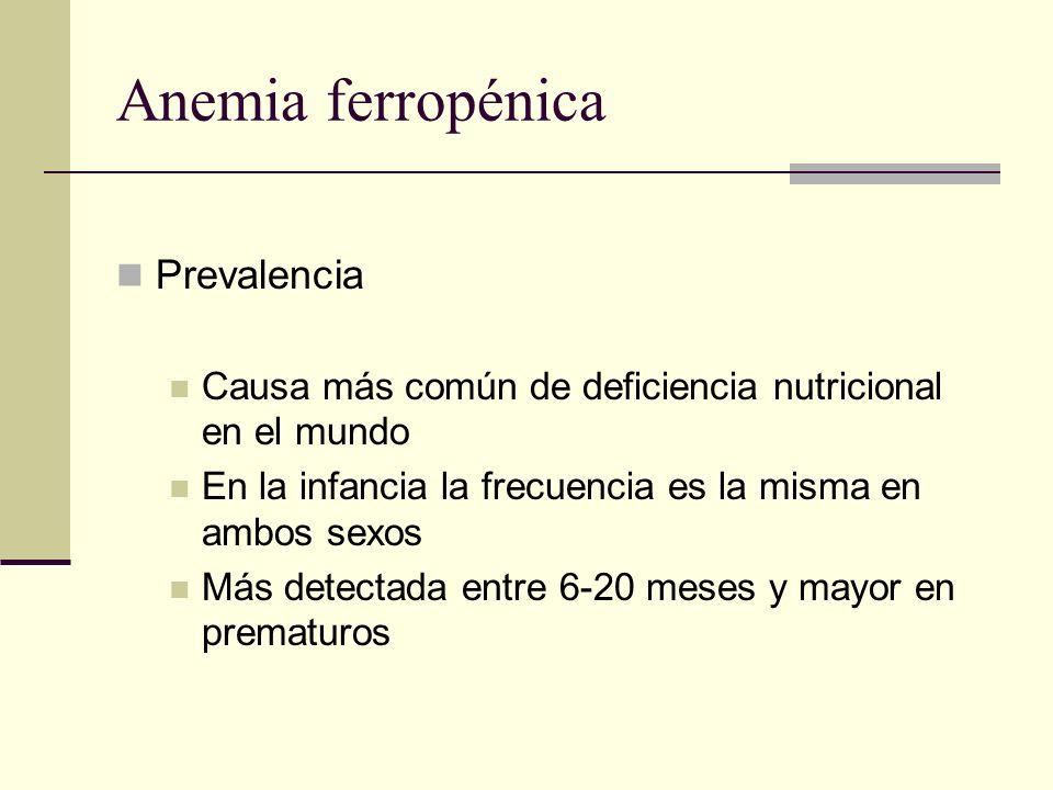 Anemia ferropénica Prevalencia