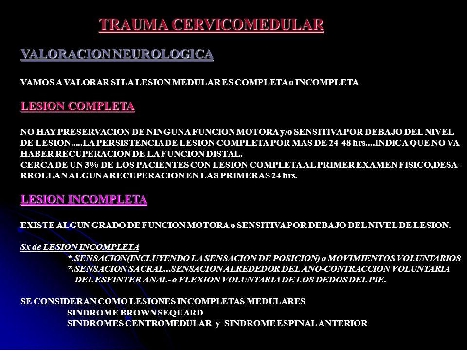 TRAUMA CERVICOMEDULAR