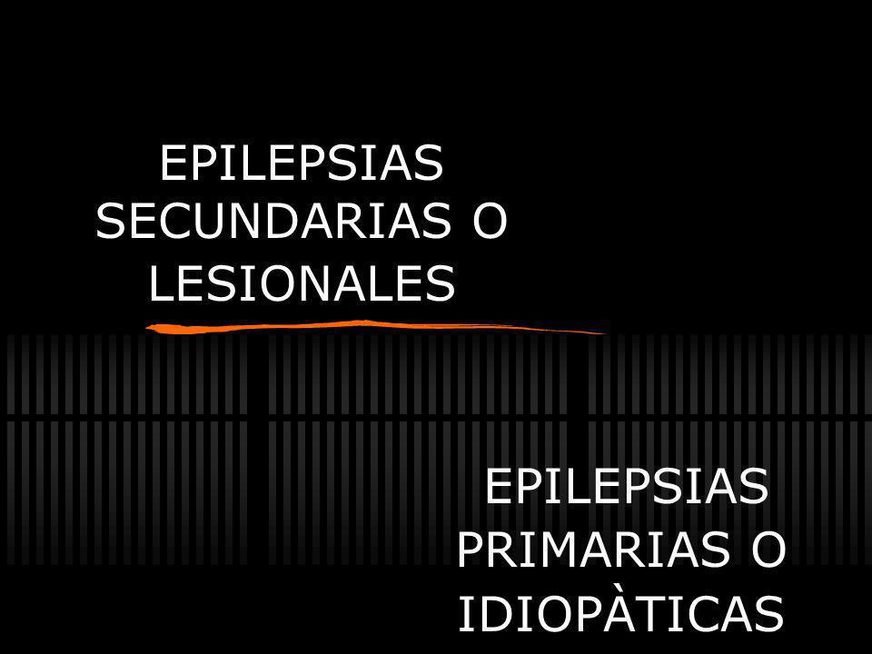 EPILEPSIAS SECUNDARIAS O LESIONALES