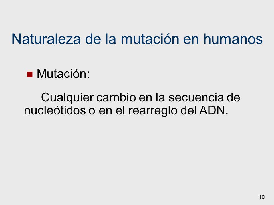 Naturaleza de la mutación en humanos