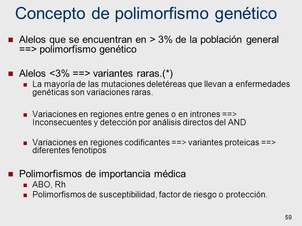 Concepto de polimorfismo genético