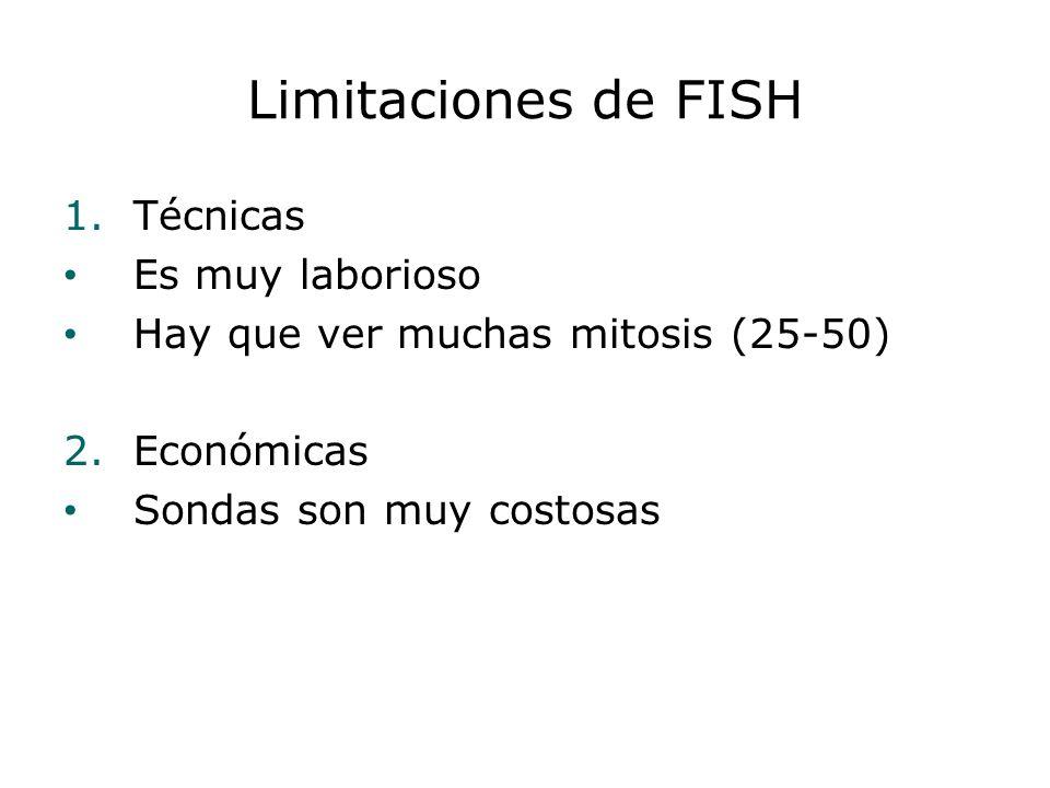 Limitaciones de FISH Técnicas Es muy laborioso