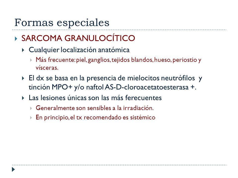 Formas especiales SARCOMA GRANULOCÍTICO