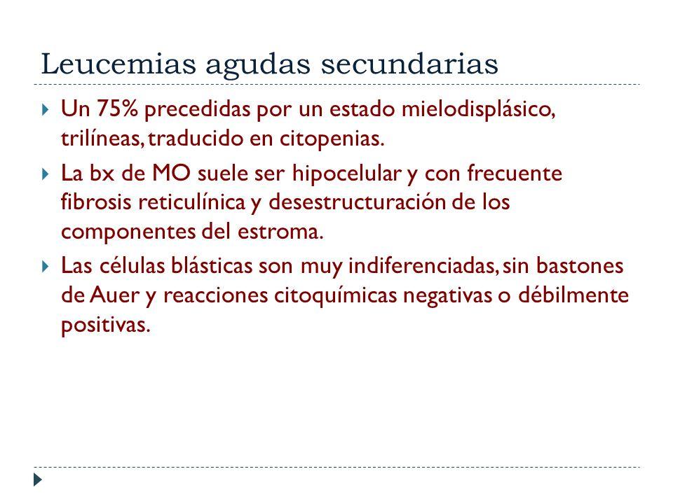 Leucemias agudas secundarias