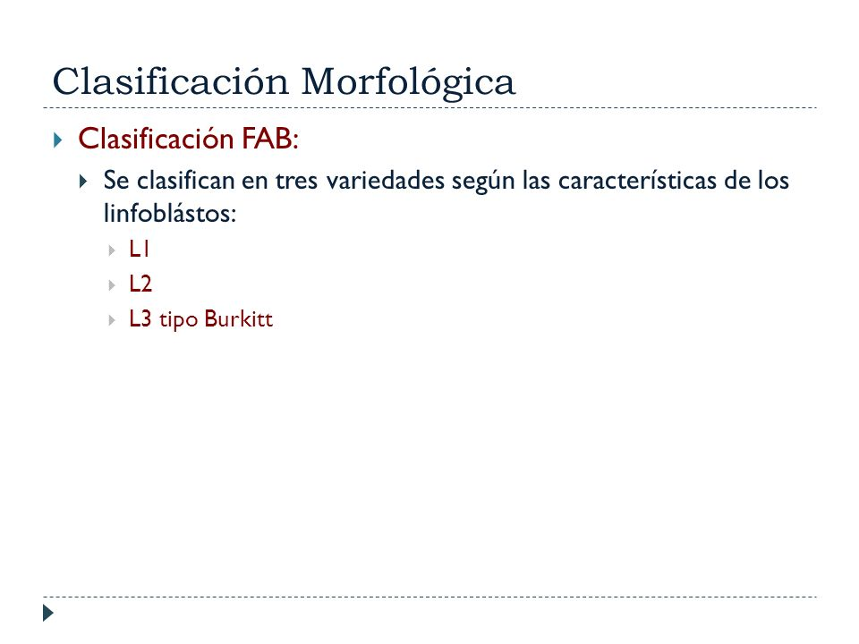 Clasificación Morfológica