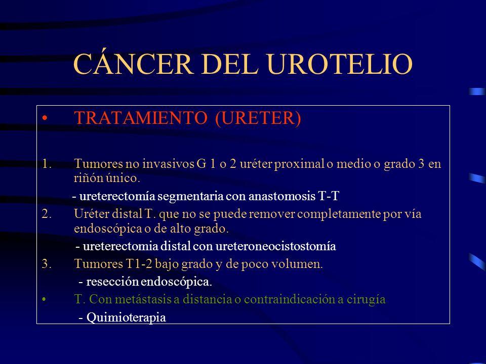 CÁNCER DEL UROTELIO TRATAMIENTO (URETER)