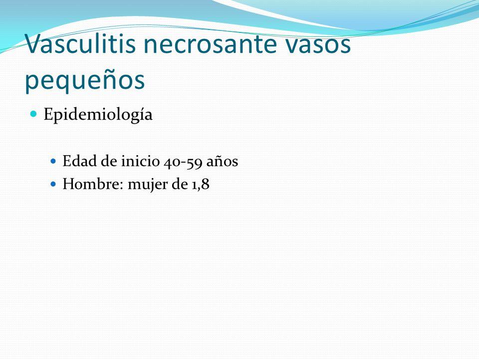 Vasculitis necrosante vasos pequeños