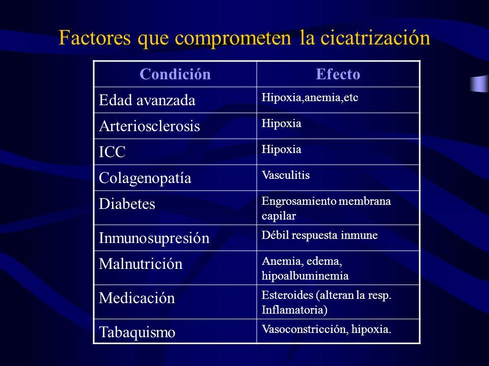 Factores que comprometen la cicatrización