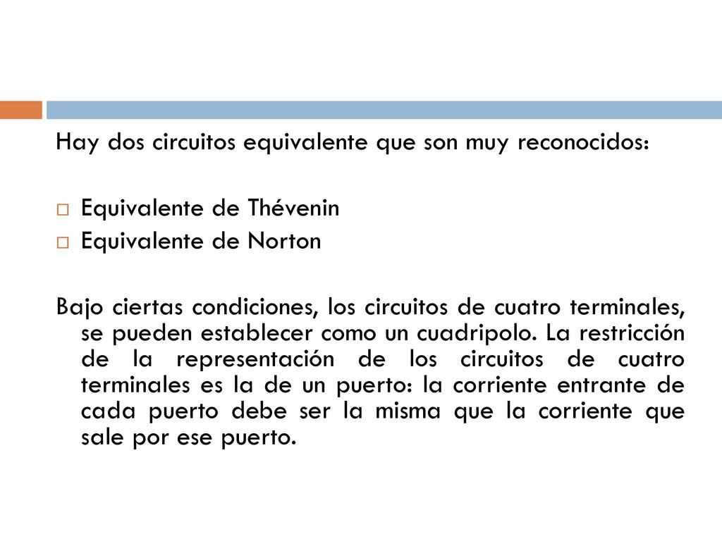 Circuito Norton And Thevenin Equivalent Circuits For Kids Thvenins Universidad Autnoma Del Estado De Mxico Ppt