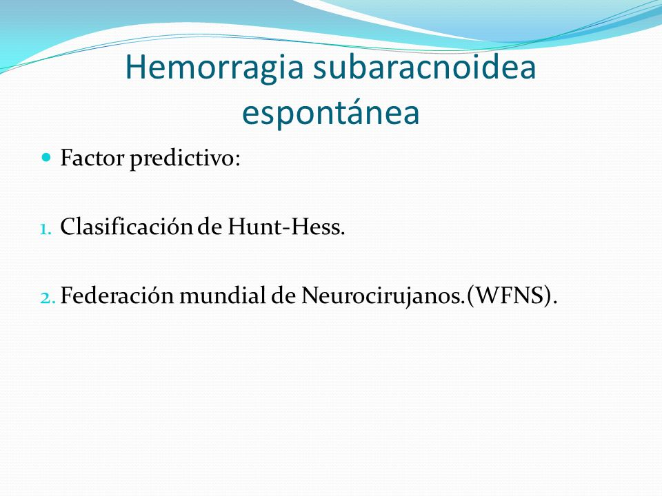 Hemorragia subaracnoidea espontánea