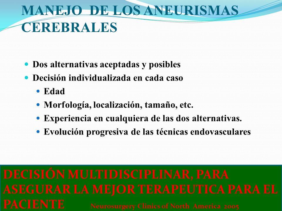 MANEJO DE LOS ANEURISMAS CEREBRALES