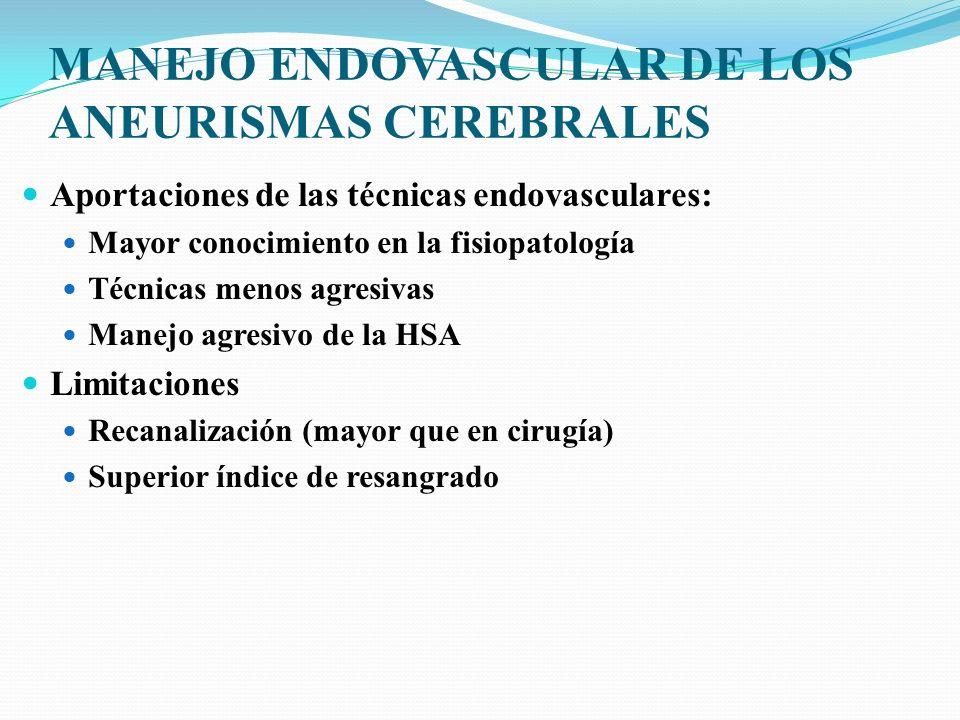 MANEJO ENDOVASCULAR DE LOS ANEURISMAS CEREBRALES